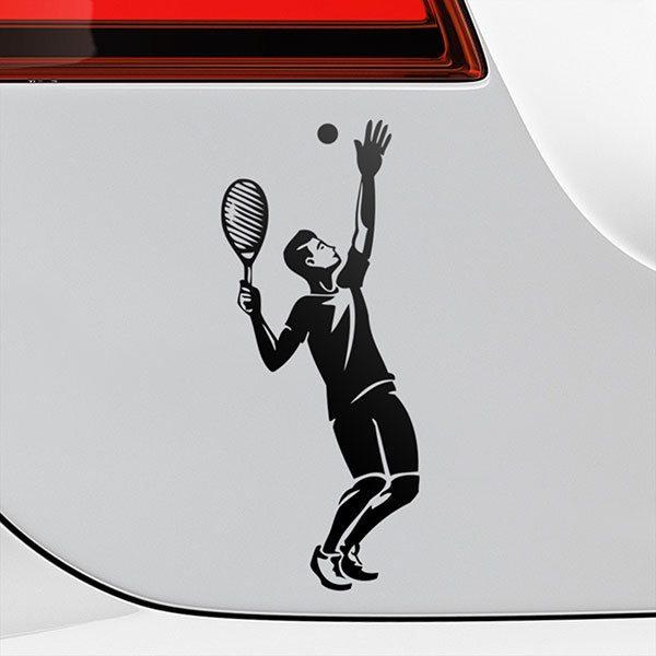 Aufkleber für Auto, Motorrad, Quad Tennis ausziehen | WebWandtattoo.com