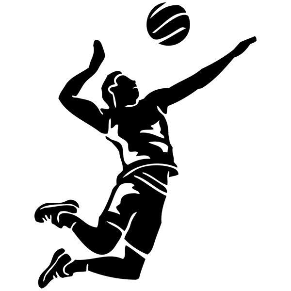 Aufkleber Für Auto Oder Motorrad Angriff Volleyball Webwandtattoocom