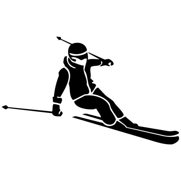 Aufkleber f r auto motorrad quad skiabfahrt for Braune klebefolie