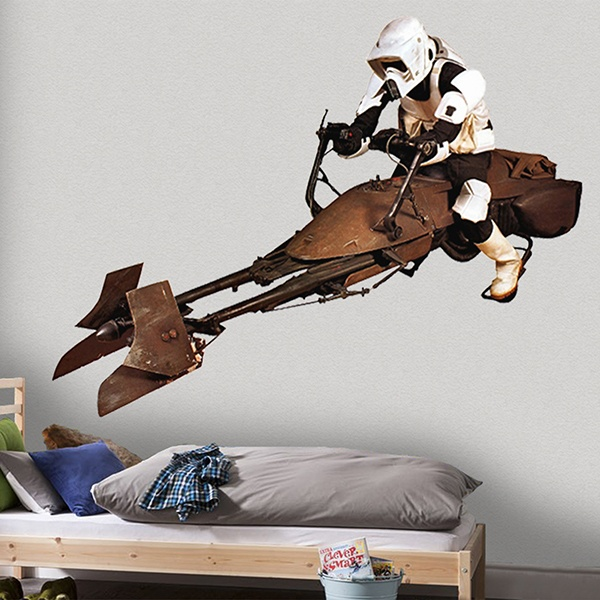 Wandtattoos: Scout Trooper auf Speeder bike