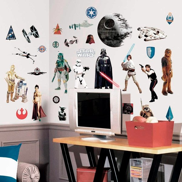 klassische star wars wandtattoo. Black Bedroom Furniture Sets. Home Design Ideas