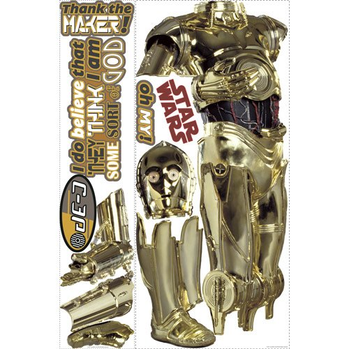 Wandtattoos: Riesen C3PO Wandtattoo