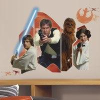 Wandtattoos: Star Wars Luke Solo Chewie und Leia 0