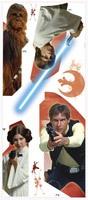 Wandtattoos: Star Wars Luke Solo Chewie und Leia 1