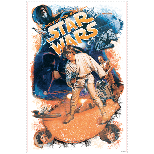 Wandtattoos: Star Wars Retro Luke Skywalker