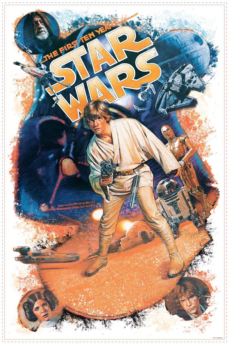 Wandtattoos: Star Wars Retro Luke Skywalker