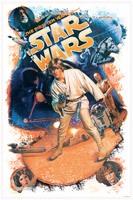 Wandtattoos: Star Wars Retro Luke Skywalker 3