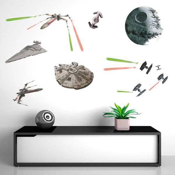 star wars wandtattoo. Black Bedroom Furniture Sets. Home Design Ideas