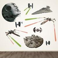 Wandtattoos: Star Wars Klassische Schiffe 0