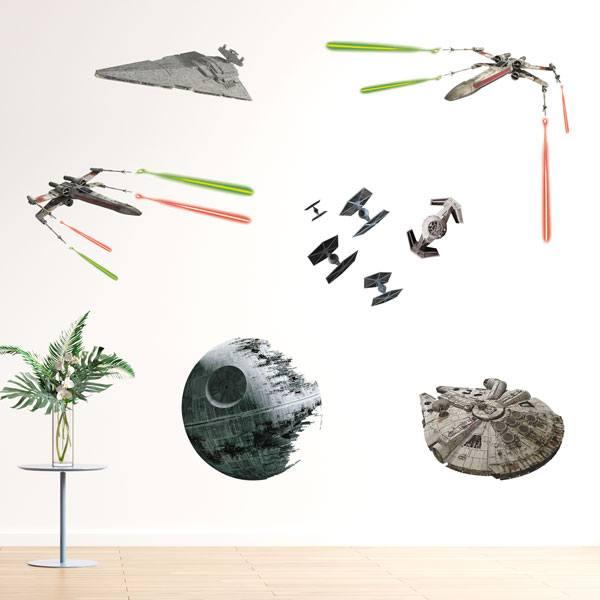 Wandtattoos: Star Wars Klassische Schiffe
