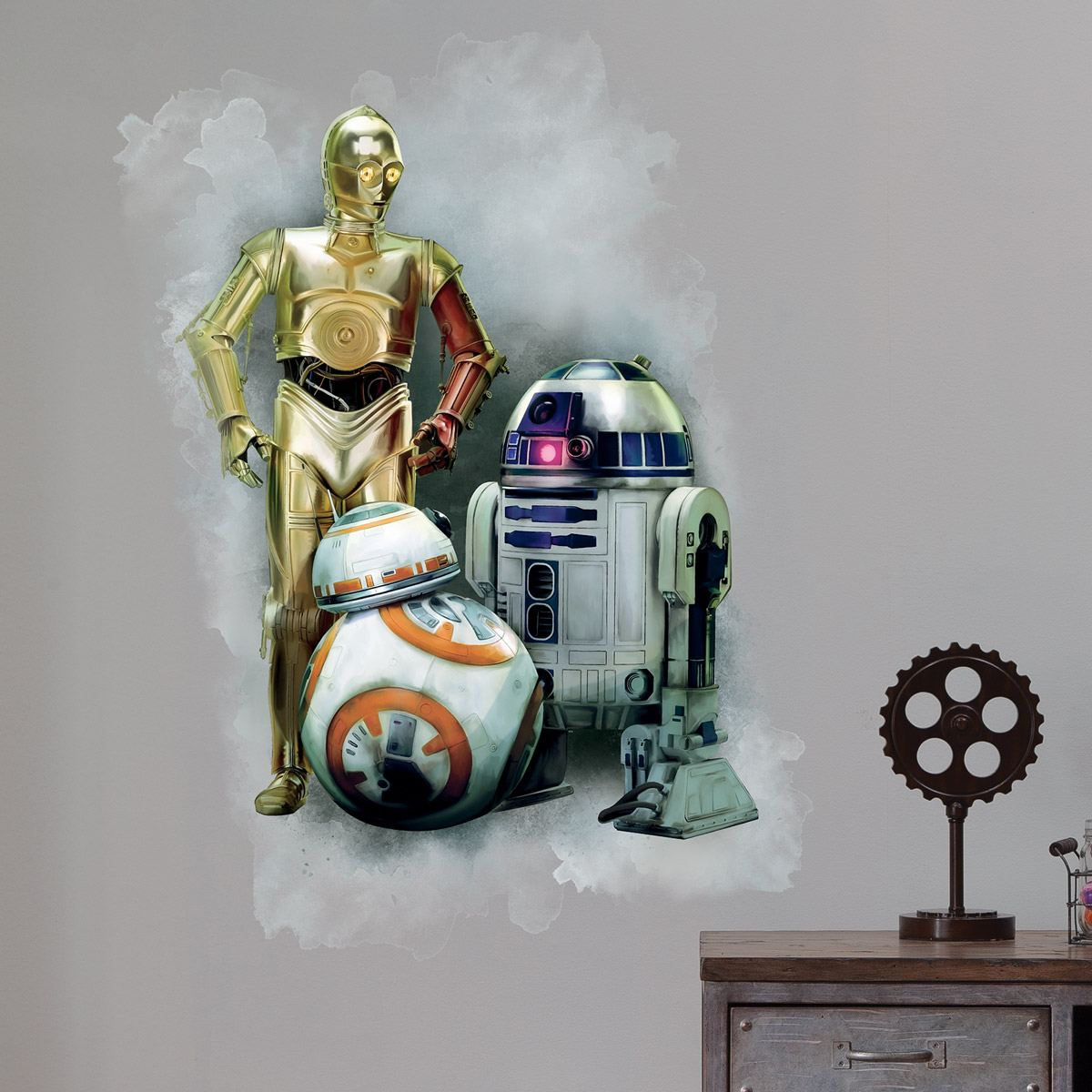 wandtattoo r2d2 c3po und bb. Black Bedroom Furniture Sets. Home Design Ideas