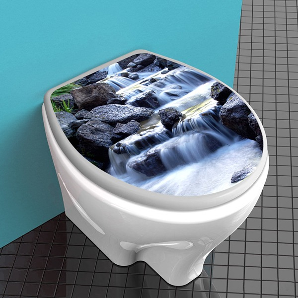 Wandtattoos: Top WC wasserfall