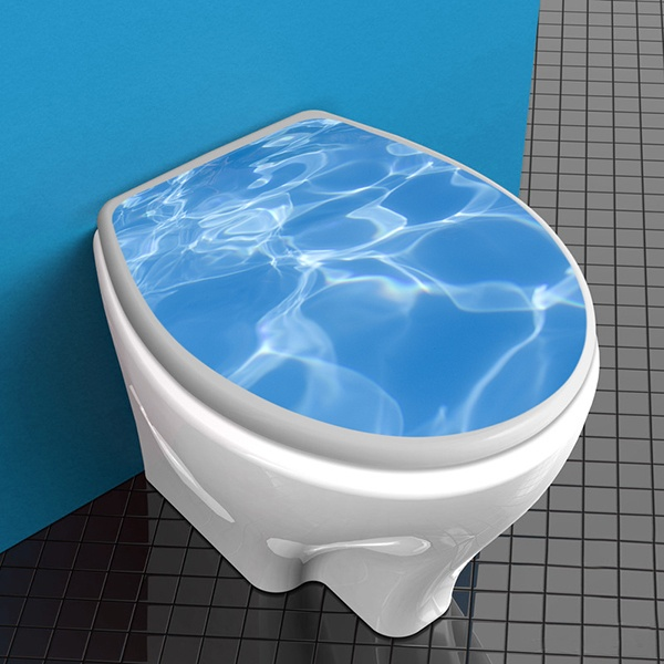 Wandtattoos: Top WC Poolwasser