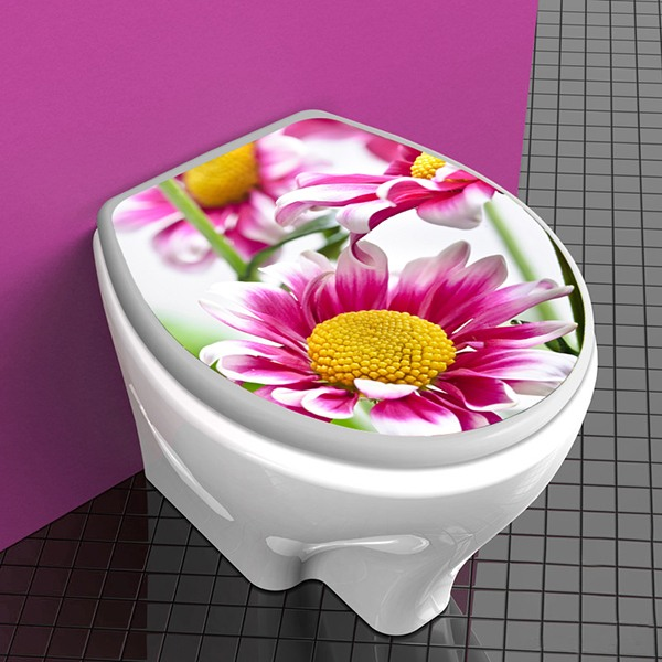 Wandtattoos: top wc Rosa Blumen 1