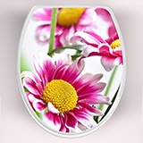 Wandtattoos: top wc Rosa Blumen 3