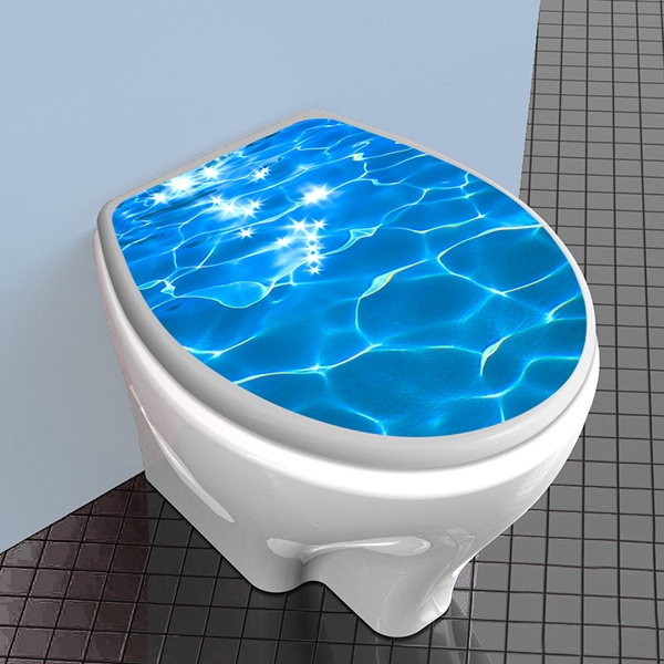 Wandtattoos: top wc Wasserreflexion