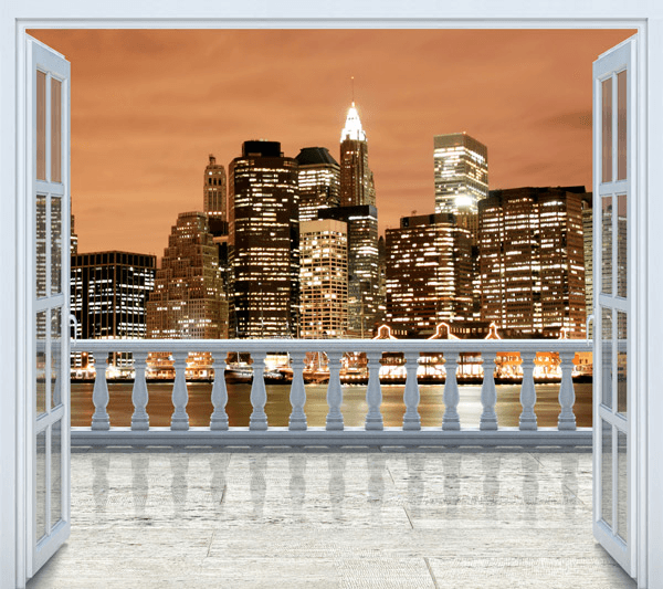 Wandtattoos: Sonnenuntergang in New York