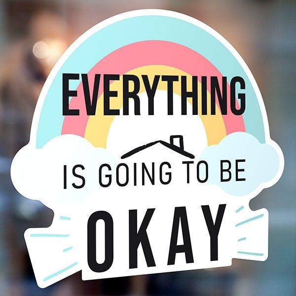 Wandtattoos: Regenbogen Everything is going to be okay