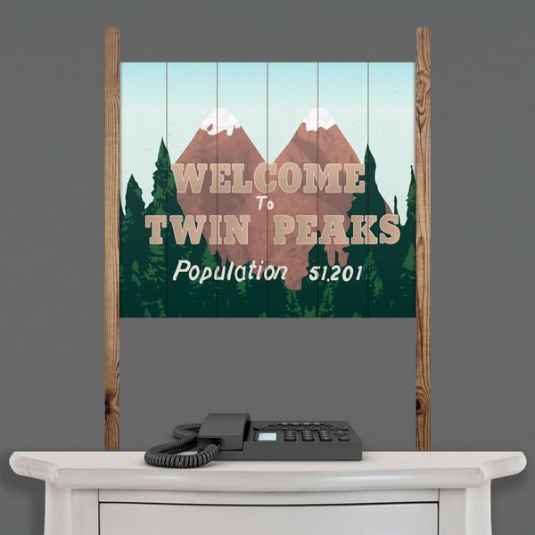 Wandtattoos: Holzschild Welcome Twin Peaks