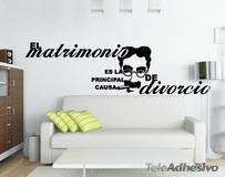 Wandtattoos: Wedding Divorce 1
