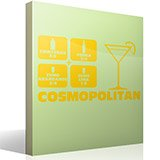 Wandtattoos: Cocktail Cosmopolitan 3