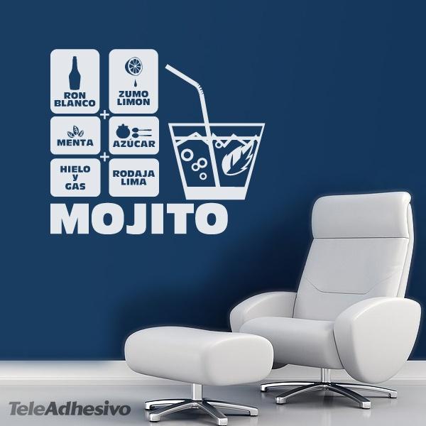 Wandtattoos: Cocktail Mojito