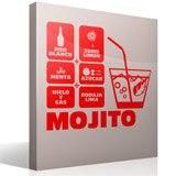 Wandtattoos: Cocktail Mojito 4