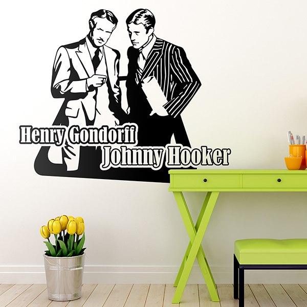 wandtattoo johnny hooker und henry gondorff. Black Bedroom Furniture Sets. Home Design Ideas