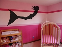 Kinderzimmer Wandtattoo: Meerjungfrau Schwimmen 2