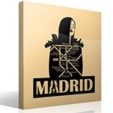 Wandtattoos: Madrid 3