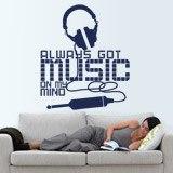 Wandtattoos: Always got music on my mind 2
