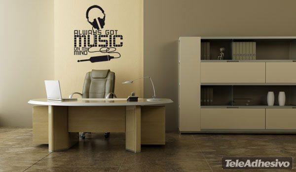 Wandtattoos: Always got music on my mind