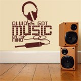 Wandtattoos: Always got music on my mind 4
