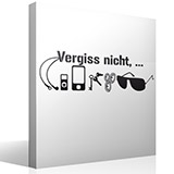 Wandtattoos: Vergiss nitch 3
