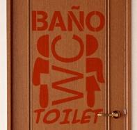 Wandtattoos: Toilet 2