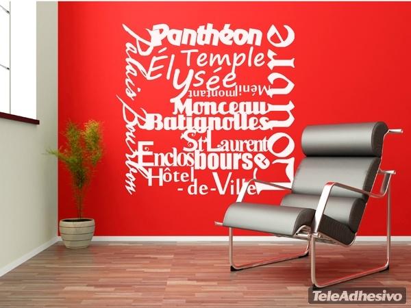 Wandtattoos: Paris Mon Amour