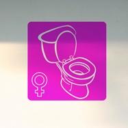 Wandtattoos: WC Mädchen 2