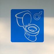 Wandtattoos: WC Junge 2