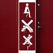 Wandtattoos: WC nicht zu tun 1