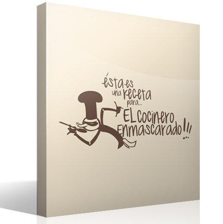Wandtattoos: Receta Cocinero Enmascarado