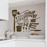 Wandtattoos: Kitchen in Languages 0