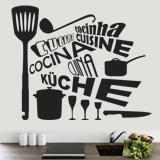 Wandtattoos: Kitchen in Languages 1