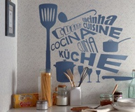 Wandtattoos: Kitchen in Languages 2
