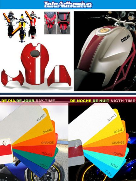 Aufkleber: Reflectible motorbike sport stripes