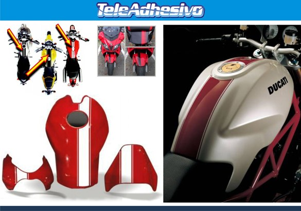 Aufkleber: Stripes motorbike sport