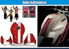 Aufkleber: Stripes motorbike sport 3