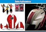 Aufkleber: Stripes motorbike sport 1