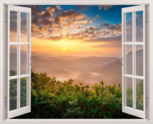 Wandtattoos: Sonnenunterganglandschaft
