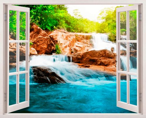 Wandtattoos: Frühling und Wasserfall