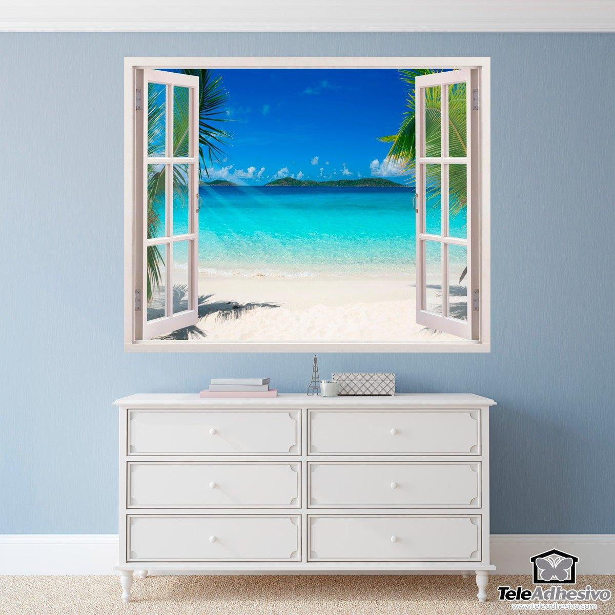 wandtattoos karibischen strand. Black Bedroom Furniture Sets. Home Design Ideas